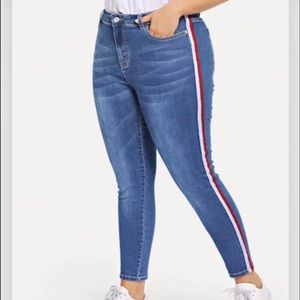 Contract tape side jeans